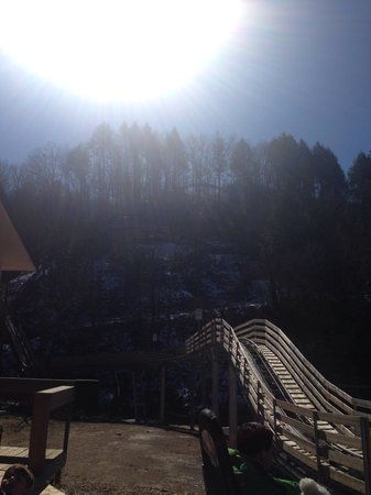 Smoky Mountain Alpine Coaster: Waiting in line