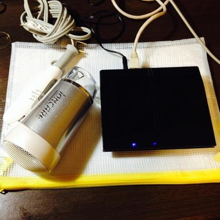 Hotel MyStays Kyoto Shijo : Hair dreyee and router.