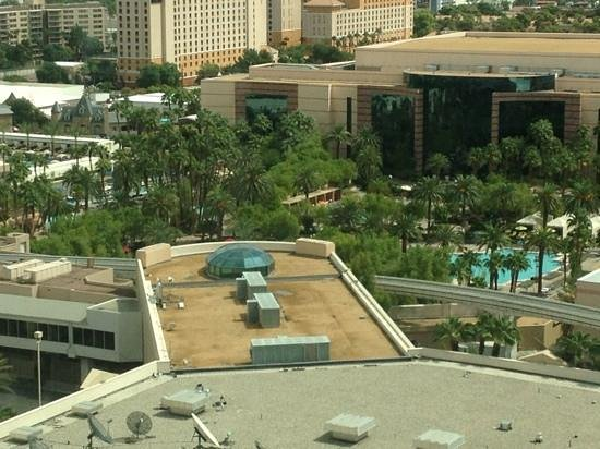 MGM Grand Hotel and Casino: View from the room. Not too bad.