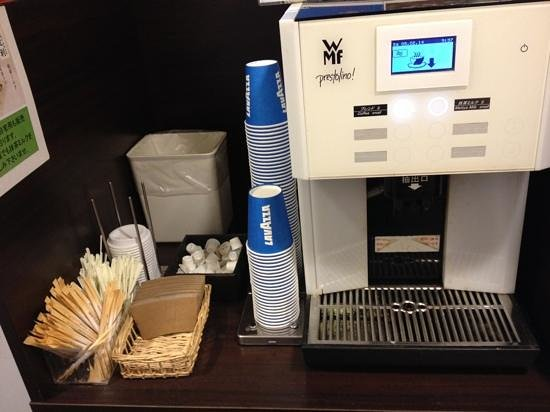 Hotel MyStays Kyoto Shijo : Free Lavazza coffee at lobby.
