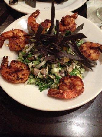 Maize Cantina: Blackened shrimp chopped salad..crave worthy!