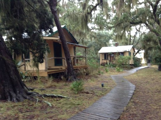 The Lodge on Little St. Simons Island: View of cabins at LSSI