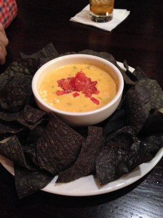 Maize Cantina: Queso dip with the freshest blue corn tortilla chips