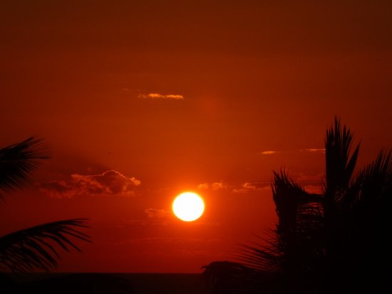 The Landings at Tres Cocos: Sunset from rooftop terrace in BL9