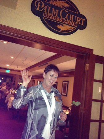 Palm Court Italian Grill: Audra welcoming guests
