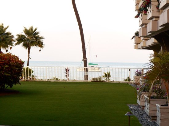 Aston at The Whaler on Kaanapali Beach: View from just outside our patio area.
