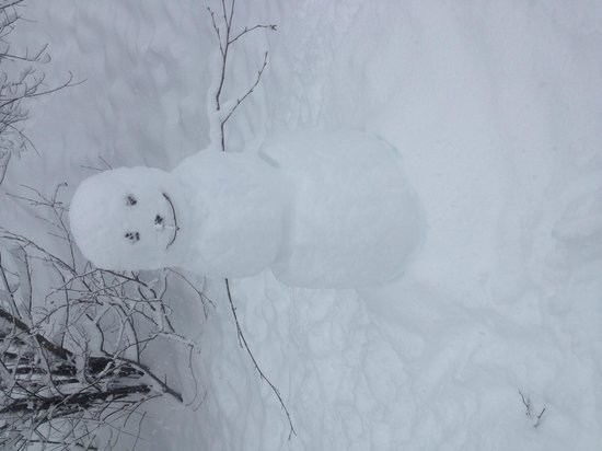Fairmont Chateau Whistler Resort: my daughter loved making her snowman