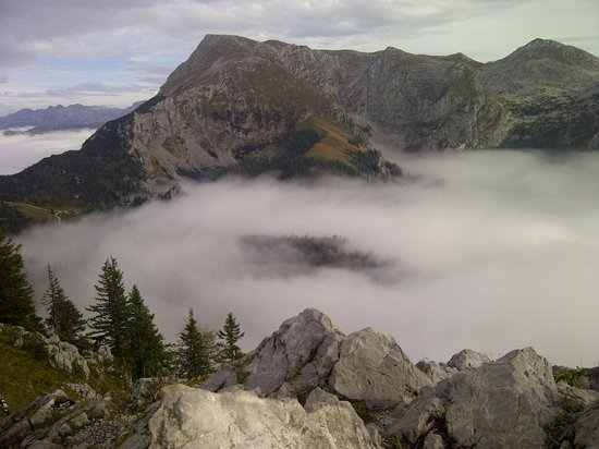 Königssee : Above the clouds on top of Mt. Jenner - Konigssee area