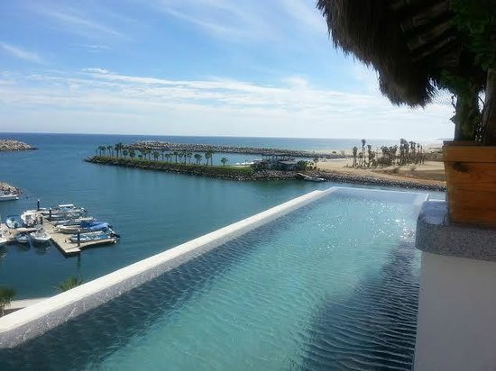 Hotel El Ganzo : Infinity Pool from rooftop sushi bar