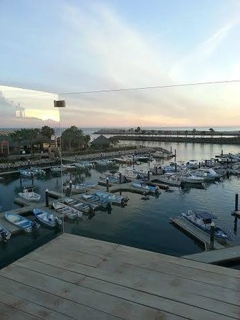 Hotel El Ganzo : Clear Glass Balcony view of marina
