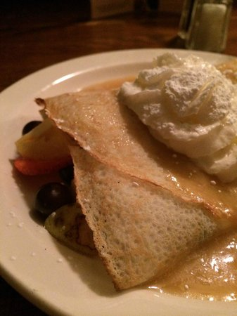 Chez Lucien: Fruit Crepe with Maple Sauce