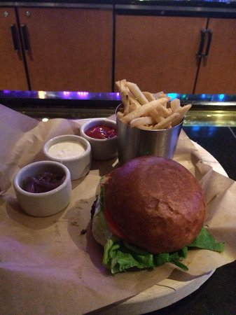 Hyatt Regency Long Beach : Burger and fries. The food quality wasn't the best