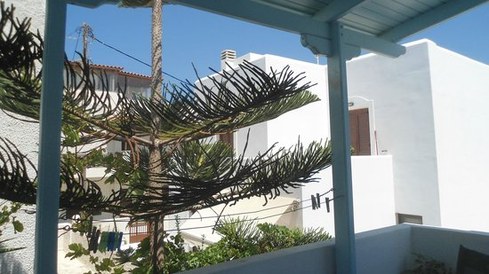 Pension Irene II : En Naxos todo es blanco y azul.