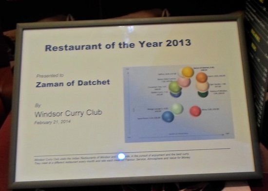 Zaman Of Datchet: Windsor curry club number 1 choice
