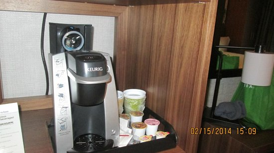 Hilton Garden Inn New York/Central Park South-Midtown West: Krupps machine, not shown fridge and micro