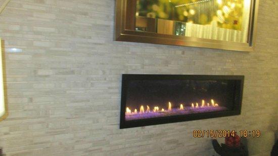 Hilton Garden Inn New York/Central Park South-Midtown West: Lobby fireplace