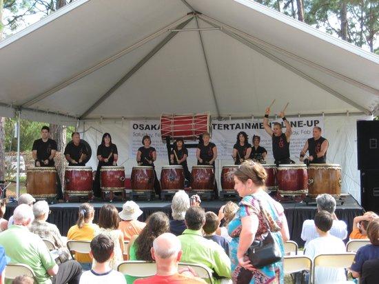 Morikami Museum & Japanese Gardens : Drumming display at Hatsume fair