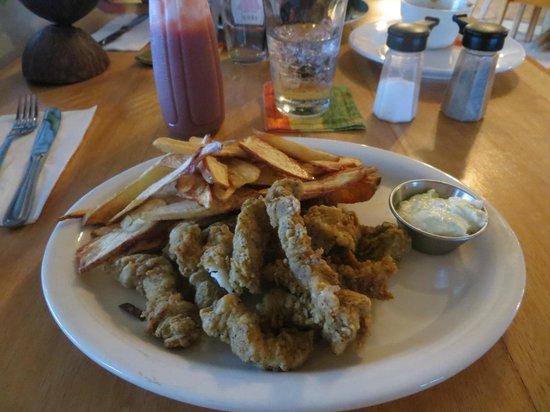 Blue Moon Restaurant: The Fish Fingers dinner