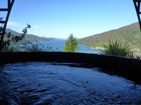 Okiwa Bay Lodge: View from the tub
