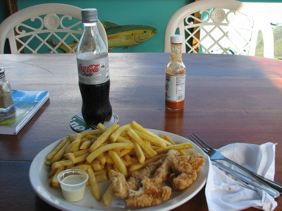 Rainbow Grill: The fish and chips dinner