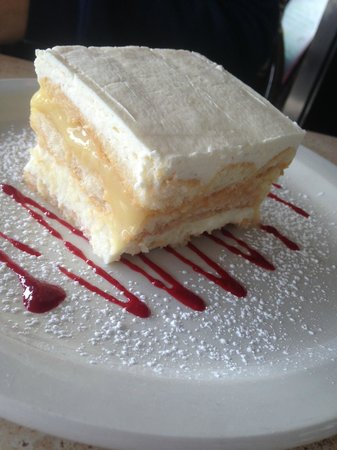 Dough Pizzeria Napoletana: Limited edition lemon ricotta cake atop a raspberry glaze. So delish.