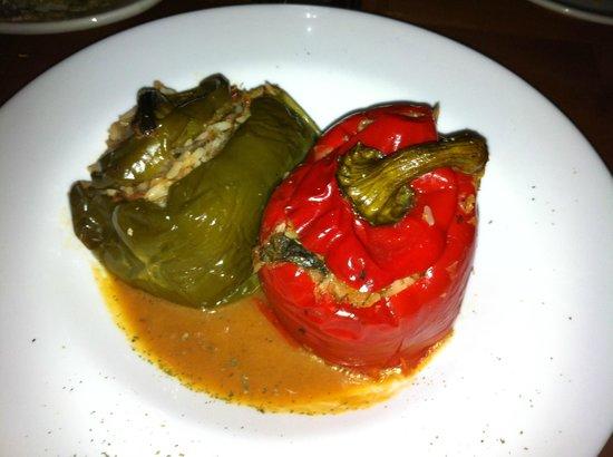 Taverna Opa: Vegetarian stuffed peppers--fabulous!!!
