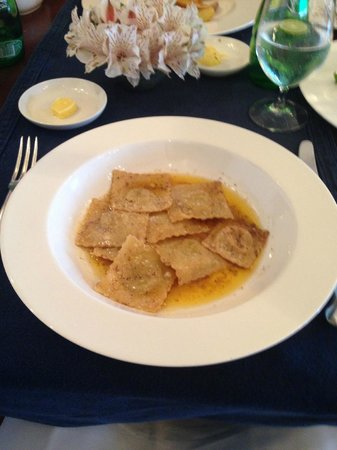 "Food - Amangalla: My ""sad"" ravioli drowning in butter"