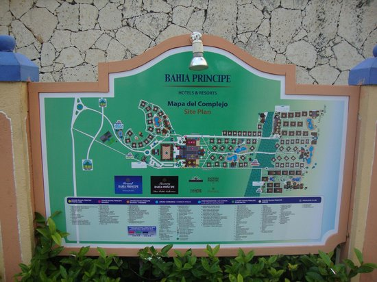 Grand Bahia Principe Bavaro : resort map