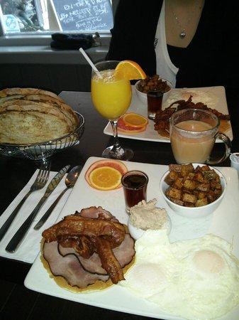 Orange et Pamplemousse : Merveilleux petit déjeuné du 31 janvier,un délice!