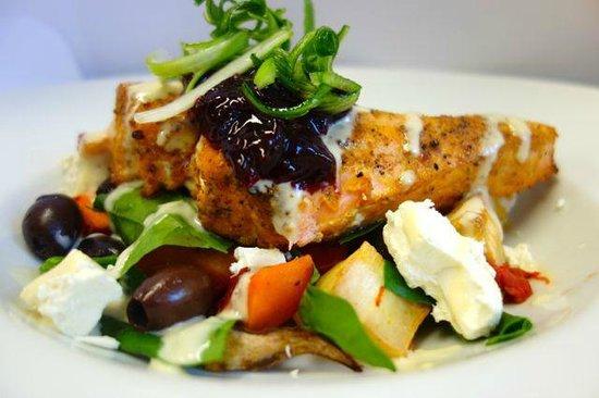 Hinton's Restaurant: Salmon dish from spring menu