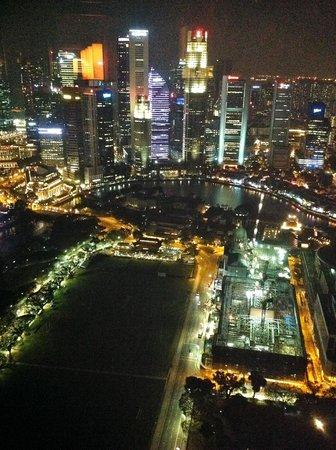 Equinox Restaurant : Вид на ночной Сингапур