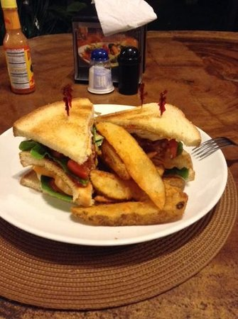 Manglar Lodge: club sandwich