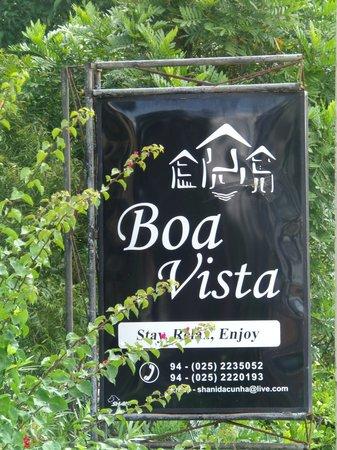 Boa Vista Guest House : Sign Board