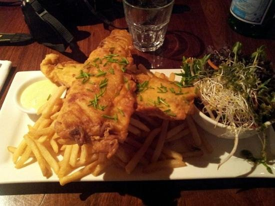 Kangaroo Island Wilderness Retreat: fish and chips