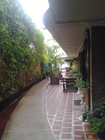 Eurana Boutique Hotel: sidewalk to foyer