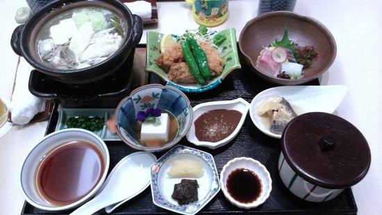 Hiroshima Airport Hotel: 日式餐廳的晚餐