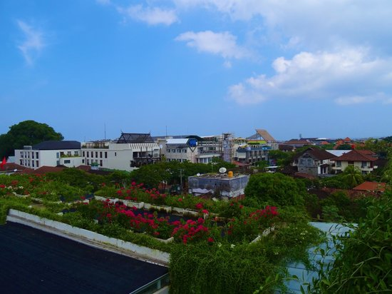 The Akmani Legian: View of Legian from rooftop pool