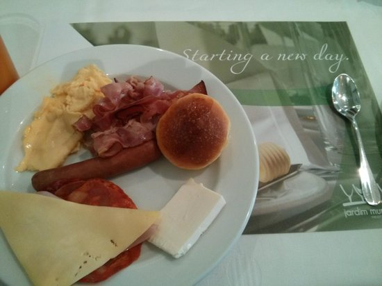 Hotel Mundial: Some of the items on offer at the breakfast buffet
