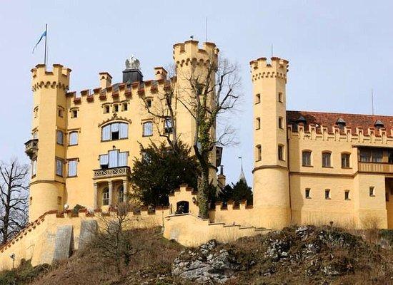 Schloss Hohenschwangau: Белый лебедь на крыше замка