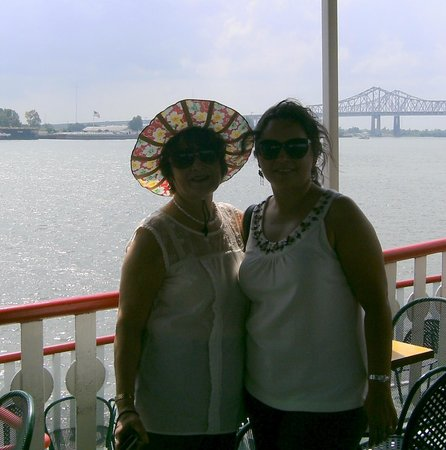 Steamboat Natchez: On the boat--wife & daughter