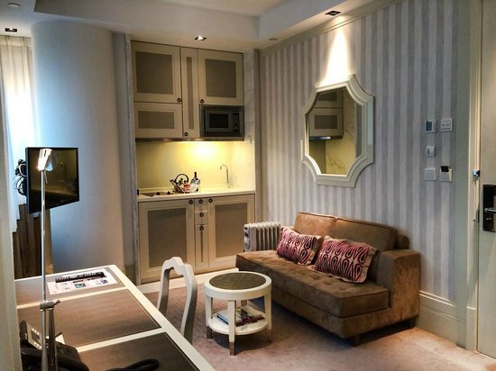 Lanson Place Hotel: Living room and Kitchen