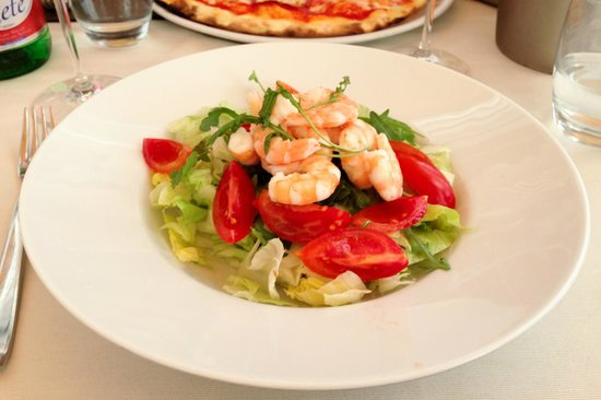 L'Abside: Prawn salad