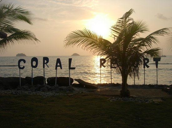 Coral Resort: Sunset view