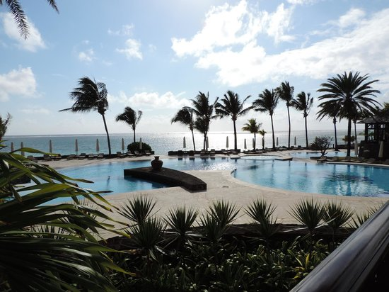 The Residence Mauritius: View from the Reception area