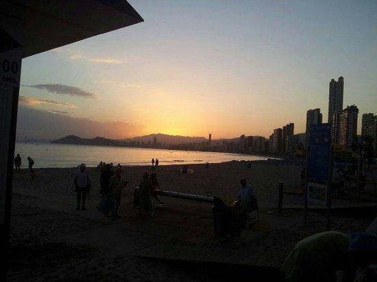 Olivers Bar: Benidrom at sunset