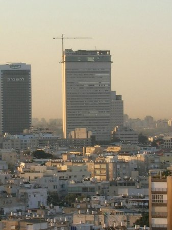"Deborah Hotel: Tel-Aviv view from room window. Cloes building ""Kolbo Shalom"""