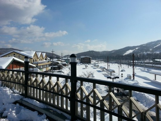 Karuizawa Prince Hotel East: View from the train station