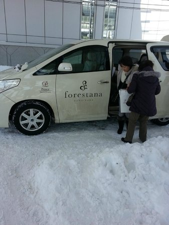 Karuizawa Prince Hotel East: Road covered by snow