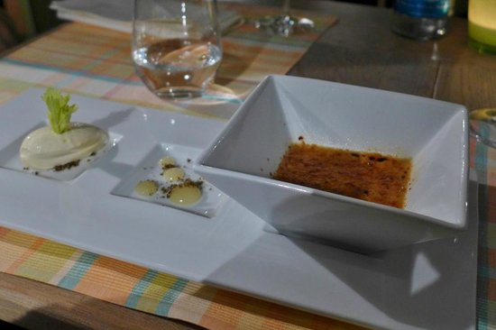Coast Restaurant & Weinbar: Süßholz Creme Brûlée  Sellerieeis