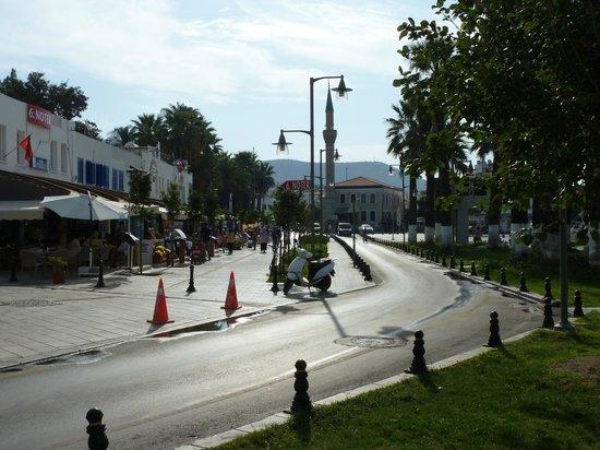 Marina Laz Hotel: Street next to Hotel